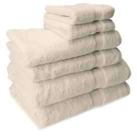 6-Piece Seneca Towel Set in Cream