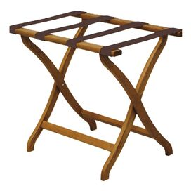 Durham Luggage Rack in Medium Oak