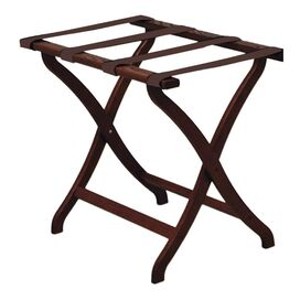 Durham Luggage Rack in Dark Red Mahogany