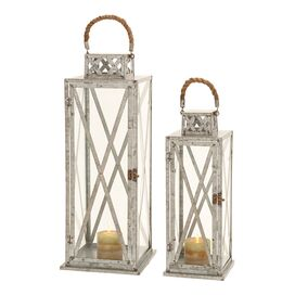 2 Piece Dell Candle Lantern Set