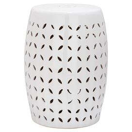 Nassau Garden Stool in White