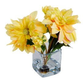 New Growth Designs Faux Dahlia Arrangement III