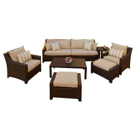 8-Piece Cabo Indoor/Outdoor Seating Group Set in Light Grey