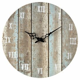 Woodbury Wall Clock in Distressed Light Blue