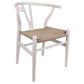 Wishbone Side Chair in Ivory
