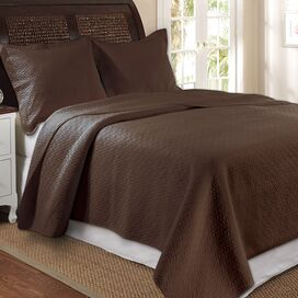 Vashon Chocolate Quilt Set