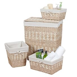 4-Piece Mirabel Hamper & Basket Set in Natural