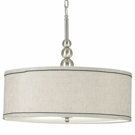 Clark Pendant in Brushed Steel