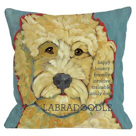 Labradoodle Indoor/Outdoor Pillow