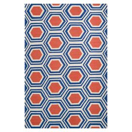 Jill Rosenwald Sabino Rug in Royal Blue