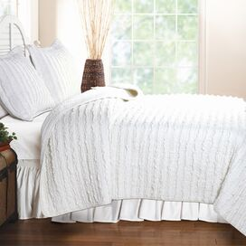Ruffled Quilt Set