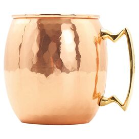Irina 24-Ounce Hammered Moscow Mule Mug in Copper