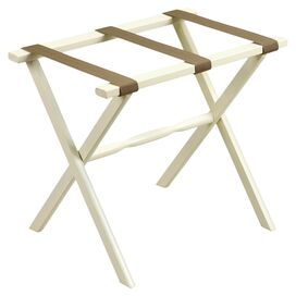 Marco Luggage Rack in Ivory & Beige