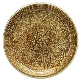 Naya Charger Plate in Gold