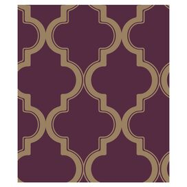 Marrakech Temporary Wallpaper in Merlot