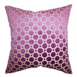 Anna Velvet Pillow in Magenta