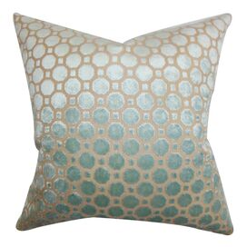 Anna Velvet Pillow in Mineral