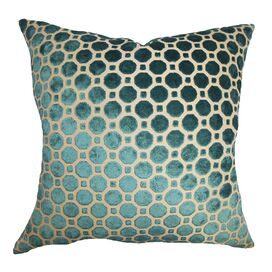 Anna Velvet Pillow in Turquoise