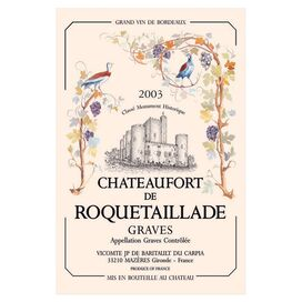 Roquetaillade Tea Towel
