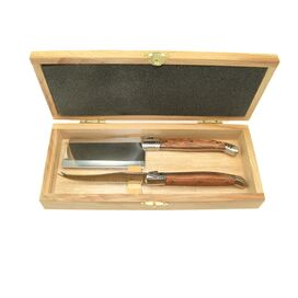 3-Piece Rosewood Cheese Knife Set