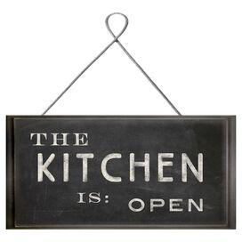The Kitchen Is Open Wall Decor