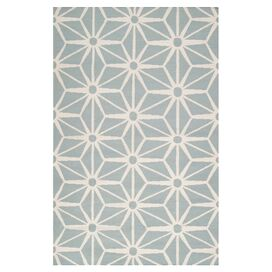 Jill Rosenwald Avalon Rug in Cloud Blue