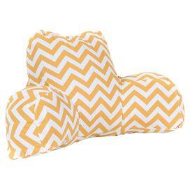 Zig Zag Indoor/Outdoor Reading Pillow in Yellow