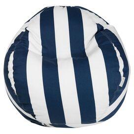Stripes Indoor/Outdoor Bean Bag in Navy