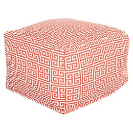 Athens Indoor/Outdoor Ottoman in Orange