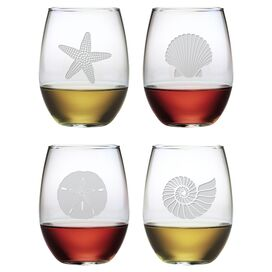 Seashore Stemless Wine Glass