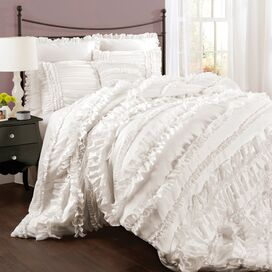 4-Piece Belle Comforter Set in White