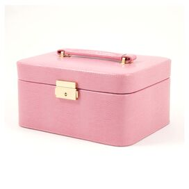 Poppy Leather Jewelry Box in Pink