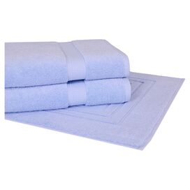 3 Piece Serenity Towel Set in Sky Blue