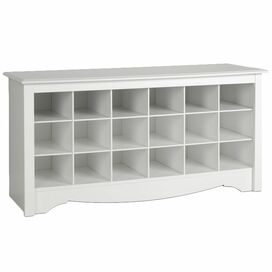 Monterey Shoe Storage Bench in White