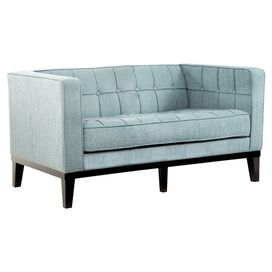 Wesley Loveseat in Spa Blue