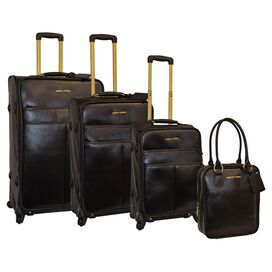 4-Piece Claire Luggage Set in Black
