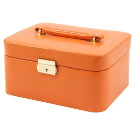 Poppy Leather Jewelry Box in Orange