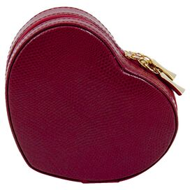 La Coeur Leather Jewelry Case in Red