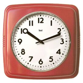 Cubist Wall Clock in Red