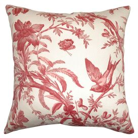 Avis Pillow in Red and White