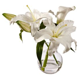 Faux Lily Arrangement