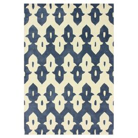 Larkspur Rug in Cobalt Blue