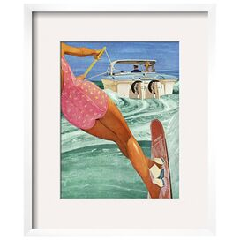 Water Skiing Framed Wall Art