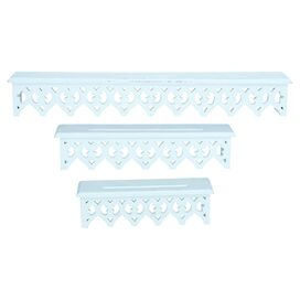 3-Piece Genevre Wall Shelf Set in Ivory