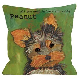 Personalized Yorkie Pillow