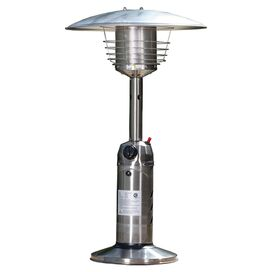 Sheldon Table Top Heater in Hammered Bronze