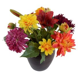 New Growth Designs Faux Dahlia & Lily Arrangement