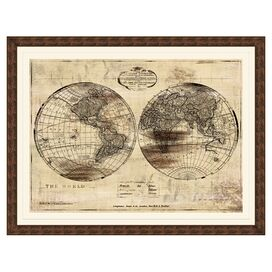 World Map Framed Giclee Print