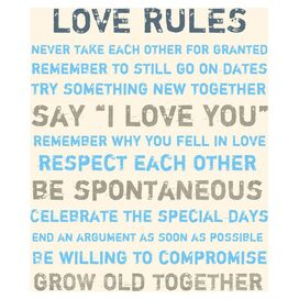 Love Rules Canvas Print