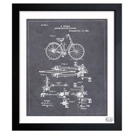 Oliver Gal & Co. Fryer Bike Framed Print
